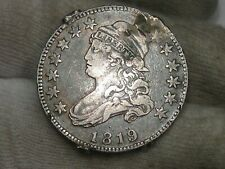"1819 Small ""9"" Large Diameter Capped Bust Quarter - Damage. #52"