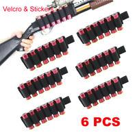 2PC Tactical 6 Rounds Shot Gun Shell Holder Ammo Cartridge Pouch Holster 12//20GA