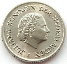 1957 NETHERLANDS 25 CENT QUEEN JULIANA