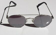 REVOLVE Wonderland Indio Silver Metal Front Silver Mirror CZ Sunglasses