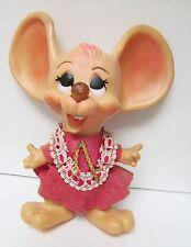 Vintage BIG EAR GIRL MOUSE Doll Figure Huron Products 50's Plastic Vinyl Bank