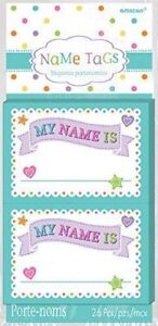 New Amscan Baby Shower Party Sticker Name Tags (26 Ct)