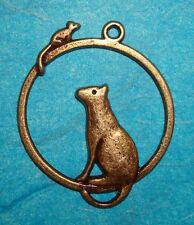 Pendant Cat Charm Animal Charm Mouse Charm Bronze Charm Cat Lover Veterinarian