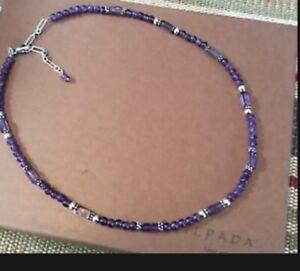 Silpada Amethyst & Sterling Silver Beaded Necklace N1305
