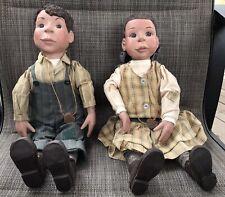 "Vtg Sarah'S Attic 18"" ""Jack Boy and Sally Booba"" Doll Set 1993-Limited 77/500"