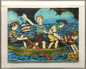 """DAVID BROMLEY """" FOUR YOUNG PIRATES """" STUNNING LIMITED EDITION PRINT"""