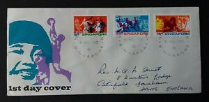 Singapore 1972 SG182/4 Youth - Addressed FDC