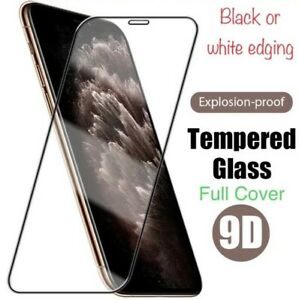 BLACK or WHITE EDGE FOR IPHONE -TEMPERED-GLASS CURVED EDGE FULLSCREEN PROTECTOR