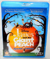 2J BLU-RAY DVD JAMES AND THE GIANT PEACH Special Edtion Disney 2 Disc w/ DVD