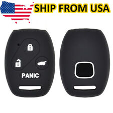 Silicone Key Case Cover For Honda Accord Civic CR-V CR-Z Insight Pilot 4 Button