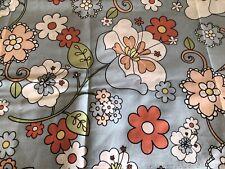 Tela Polialgodón-Gris y Blanco Daisy Estampado Floral-material de tela artesanal