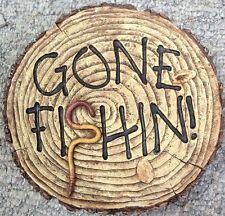 Gone Fishin, stepping stone,  plastic mold, concrete mold, cement, plaster