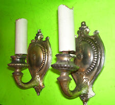 HEAVY Cast Electric Wall SCONCES -    (#L262)