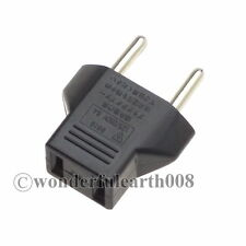 50 x US to EU Travel Adapter Max 250V 6Amp Convert US 2 Pin to EU 2 Prong Plug