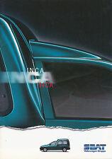 Seat Inca folleto 3 96 brochure 1996 auto turismos auto folleto folleto España