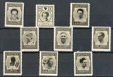 NEDERLAND 1937 ca   9 x  FOTO STAMPS  ATHETIEK THICK PAPER NO GUM   MOST  VF