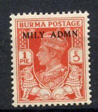 Burma 1945 SG#35, 1p KGVI Optd Mily Admn MNH #C80