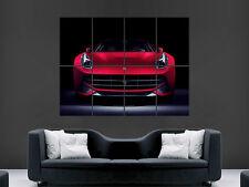 FERRARI F12 RED BERLINETTA  CAR SUPERCAR  ART WALL LARGE IMAGE GIANT POSTER