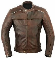 Vagos Motorbike Leather Jacket Motorcycle Protection CE Armours XL