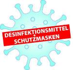 Desinfektionsmittel + Schutzmasken