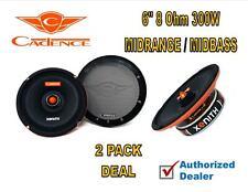 (2) 6 Inch 8 Ohm 300W Bullet Mid Bass Range Pro Car Audio Speaker Cadence XM68Vi
