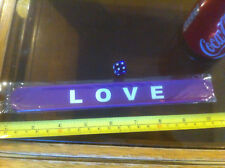 Love Purple Snap Bracelet High Quality Fold Plastic Wristband