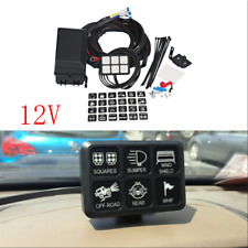 Universal 6 Gang 6LED Autos Switch Panel Relay Control Box+Wiring Harness DC12V