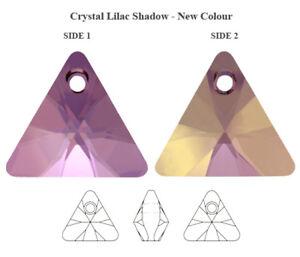 Genuine SWAROVSKI 6628 XILION Triangle Crystals Pendants * Many Sizes & Colors
