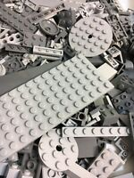 LEGO Light Gray 1/4 lb Bulk Lot of Bricks Plates Specialty Parts Pieces Pounds