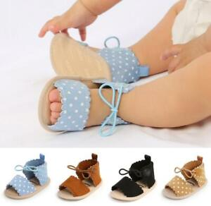 Newborn Baby Girl cRIB Shoes Infant Pre Walker Trainers Soft Sole Summer sandals