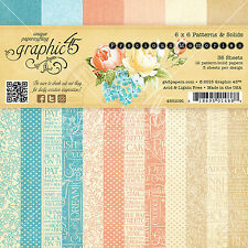 Graphic45 PRECIOUS MEMORIES 6x6 PAPER PAD scrapbooking (36) Patterns & Solids