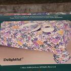 Vintage Royal Linens DELIGHTFUL Floral Cotton Tablecloth 60x84 Oblong - NEW
