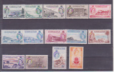 GIBRALTAR :1953 Definitive set 1/2d -£1 SG 145-158 VF/VLH