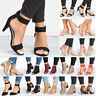 Women Mid Low Block Heels Sandals Open/Pointed Toe Ankle Strap Pumps Party Shoes