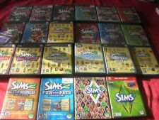 Sims 2 & 3- Huge Lot (PC Games, 2004)--27 Games-22Game Cases-Excellent Cond.