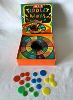 Vintage Boxed Merit J Randall Tiddley Winks Game - Plastic Cup w Print Error