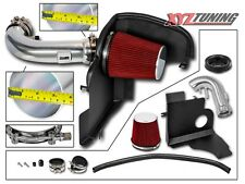 "3.5"" RED Heat Shield Cold Air Intake Kit + Filter For 11-14 Mustang GT 5.0L V8"
