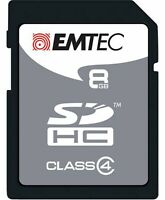 Emtec Memory SD Card 8GB Class 4 Silver SDHC Camera Laptop Mobile Devices AT