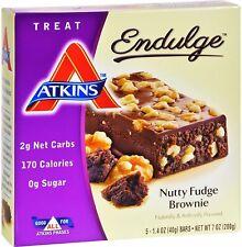 Atkins Endulge Bars by Atkins Nutritionals, 5 bars Nutty Fudge Brownie 2 pack