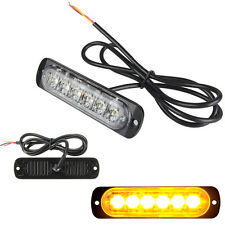 6 Amber/Yellow LED Emergency Hazard Warning Flash Strobe Beacon Caution Light ZY