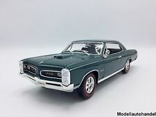 Pontiac GTO 1966 metallico-VERDE SCURO 1:18 Welly