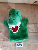 """Large Soft GREEN  CROCODILE PUPPET 10"""" APPROX VGC"""