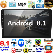 Single 1Din Android8.1 10.1in GPS Navigation WiFi FM Radio Car Stereo MP5 Player