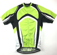 Xintown Adult Medium (40 in Chest) Green Full Zip Bike Bicycle Cycling Jersey