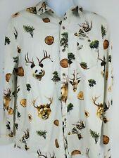 LRG Clothing Button Down Shirt Mens XL angry Pandas Street Wear