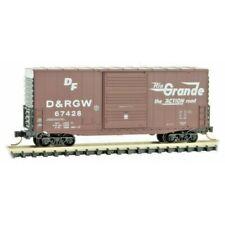 N Scale - MICRO-TRAINS LINE 101 00 031 DENVER & RIO GRANDE WESTERN 40' Box Car
