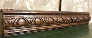 Entrelas groove wood carving pediment antique french archiectural salvage