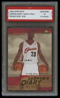 2003 LEBRON JAMES #LJ8 UPPER DECK UD DIARY 1ST GRADED 10 ROOKIE CARD RC LAKERS