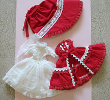 Lovable Lolita Baby dress set for Kenner Blythe - doll cloths / outfits - Red