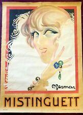 LARGE Mistinguett print on linen-backed material | Charles Gesmar (1925)